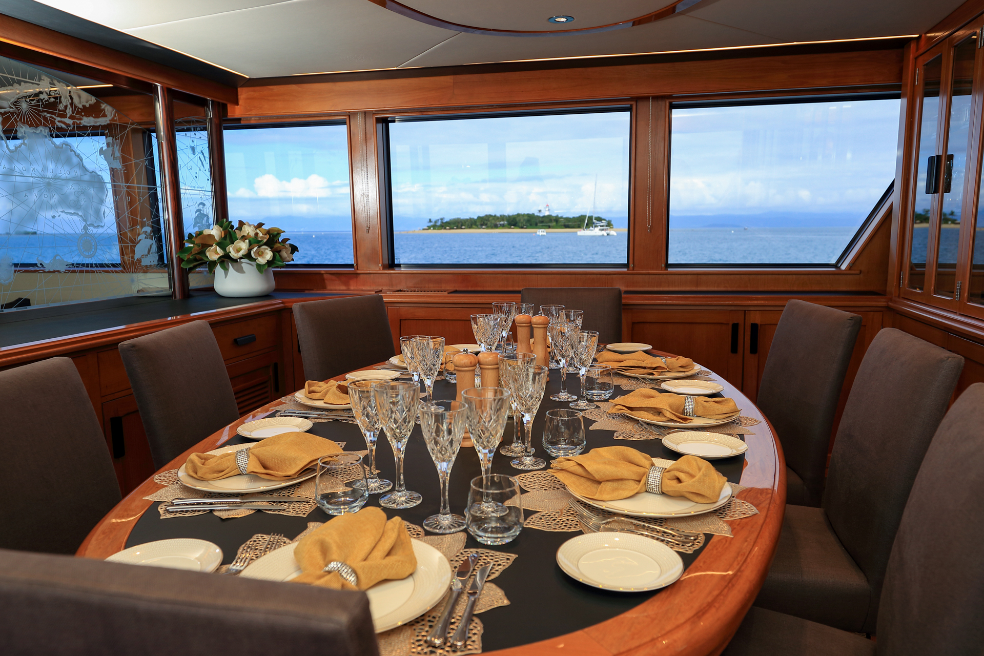 YOTSPACE superyacht voyages - Book By the Cabin - Phoenix One - Dining Saloon