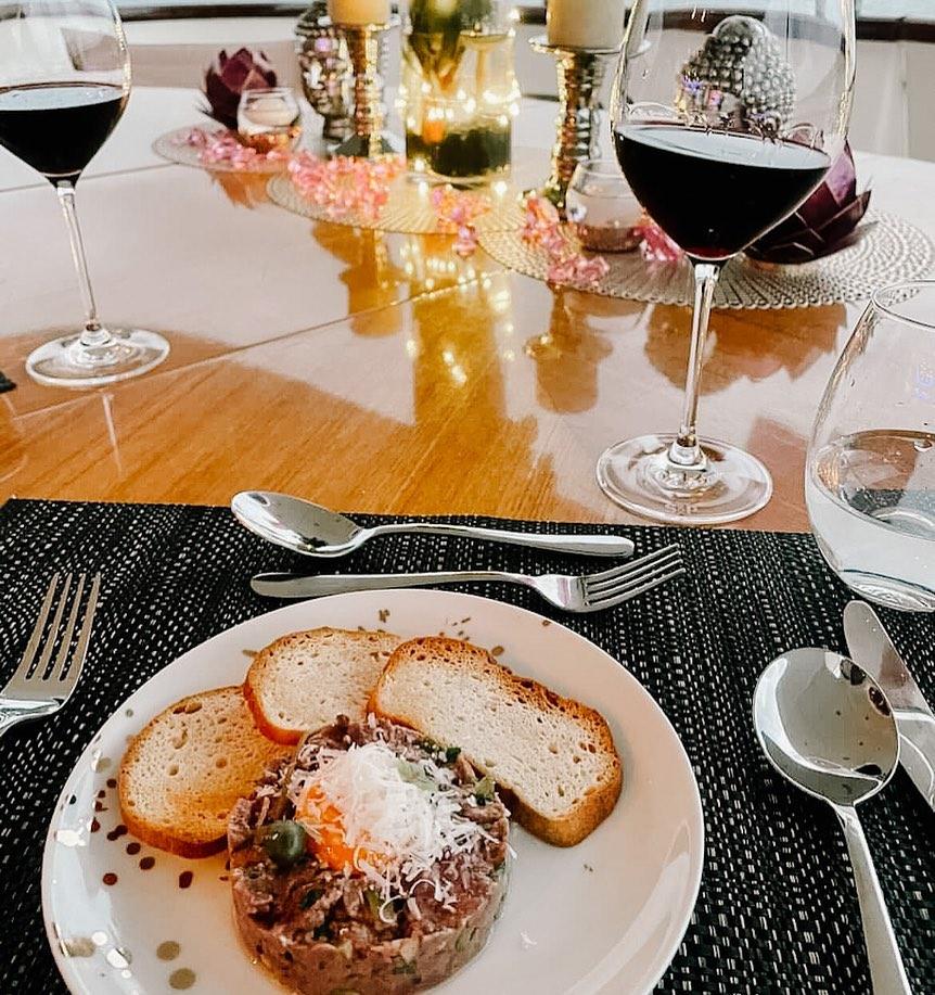 YOTSPACE superyacht voyages 5 star cuisine on Lady Pamela