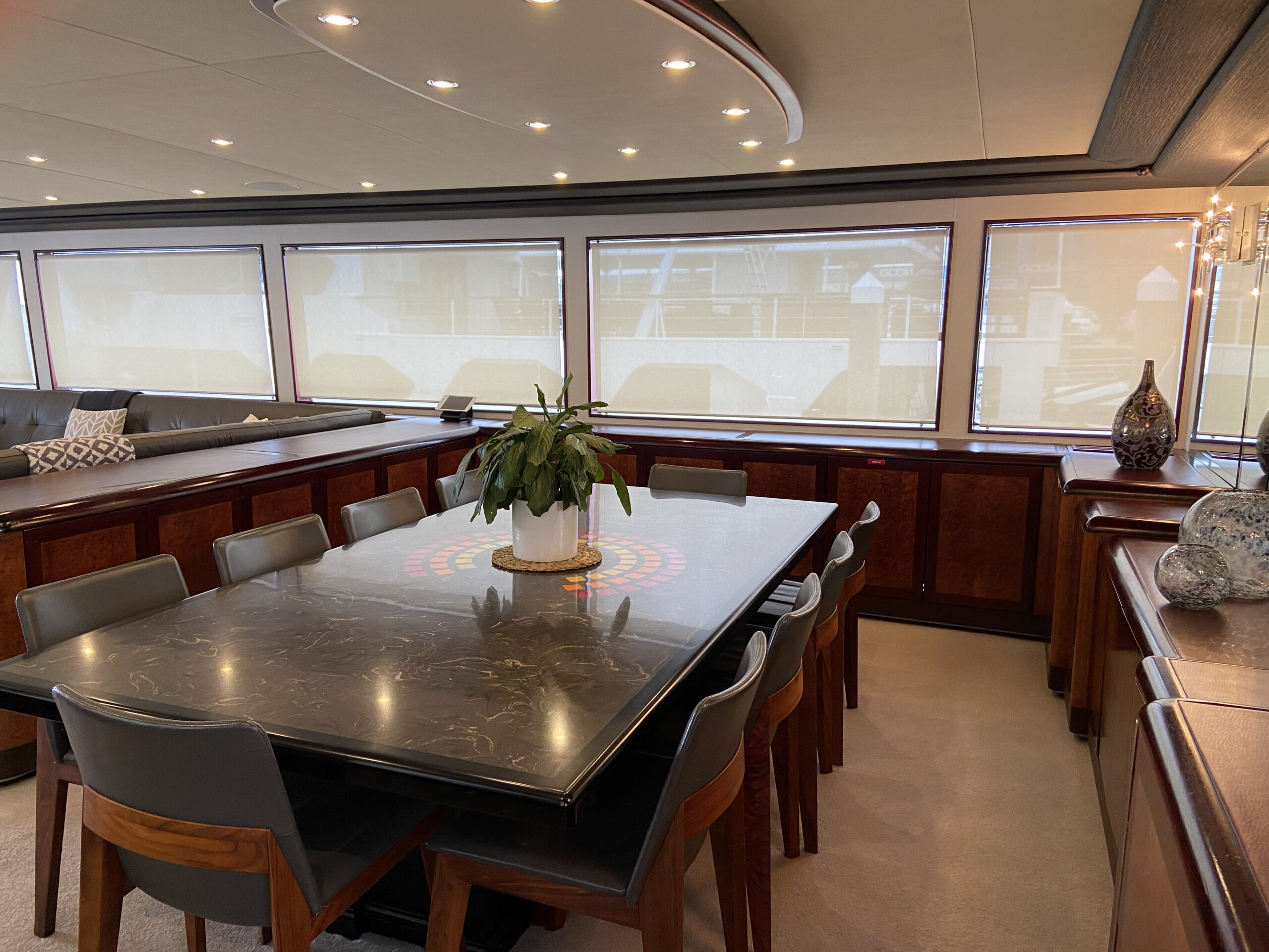 YOTSPACE superyacht voyages - Corroboree Dining room