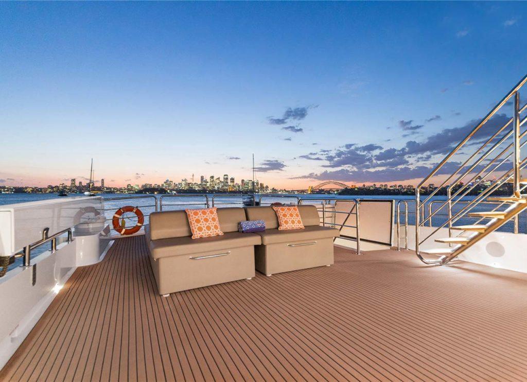 YOTSPACE superyacht voyages - Corroborree upper deck