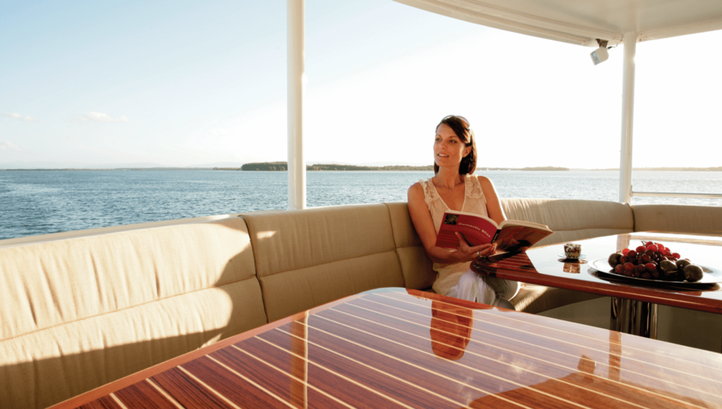 YOTSPACE - Superyacht Voyages - Relax on the Aft Deck