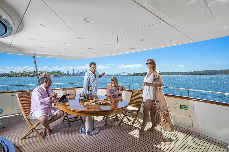 YOTSPACE - Superyacht Voyages - Lady Pamela - Aft Deck Entertainment