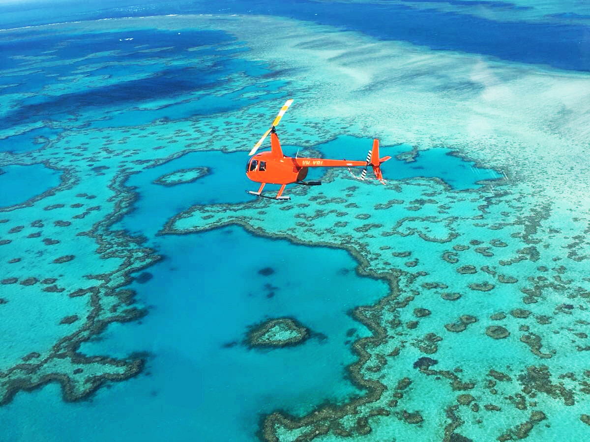YOTSPACE superyacht voyages - Great Barrier Reef - Optional Helicopter Flights