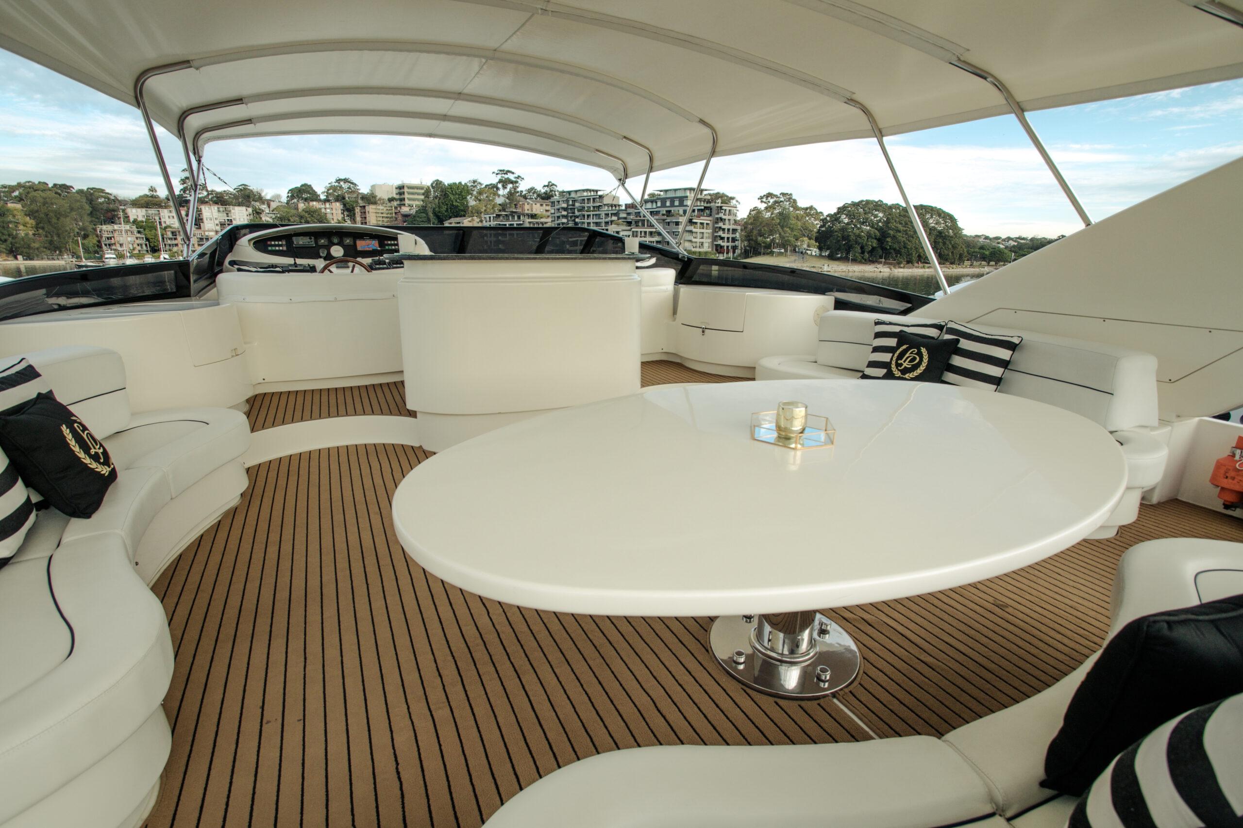 YOTSPACE - Superyacht Voyages - Lady Pamela Sun Deck