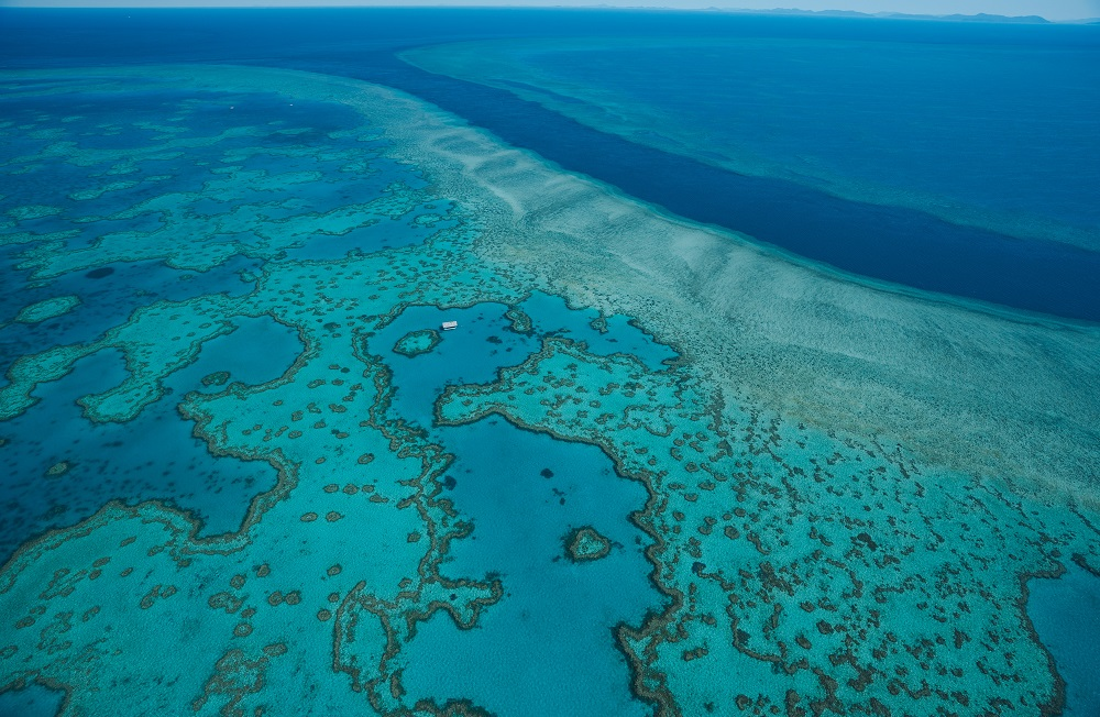 YOTSPACE superyacht voyages - Aerial view of Great Barrier Reef
