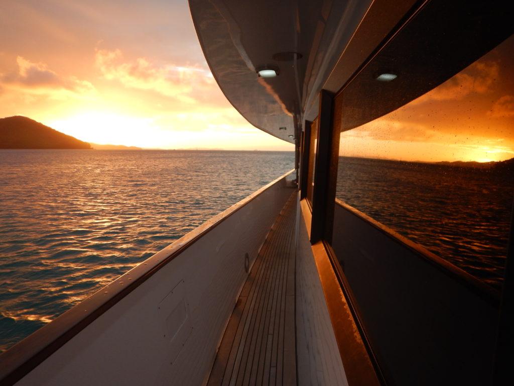 YOTSPACE superyacht voyages Great Barrier Reef - Phoenix One - Sunset