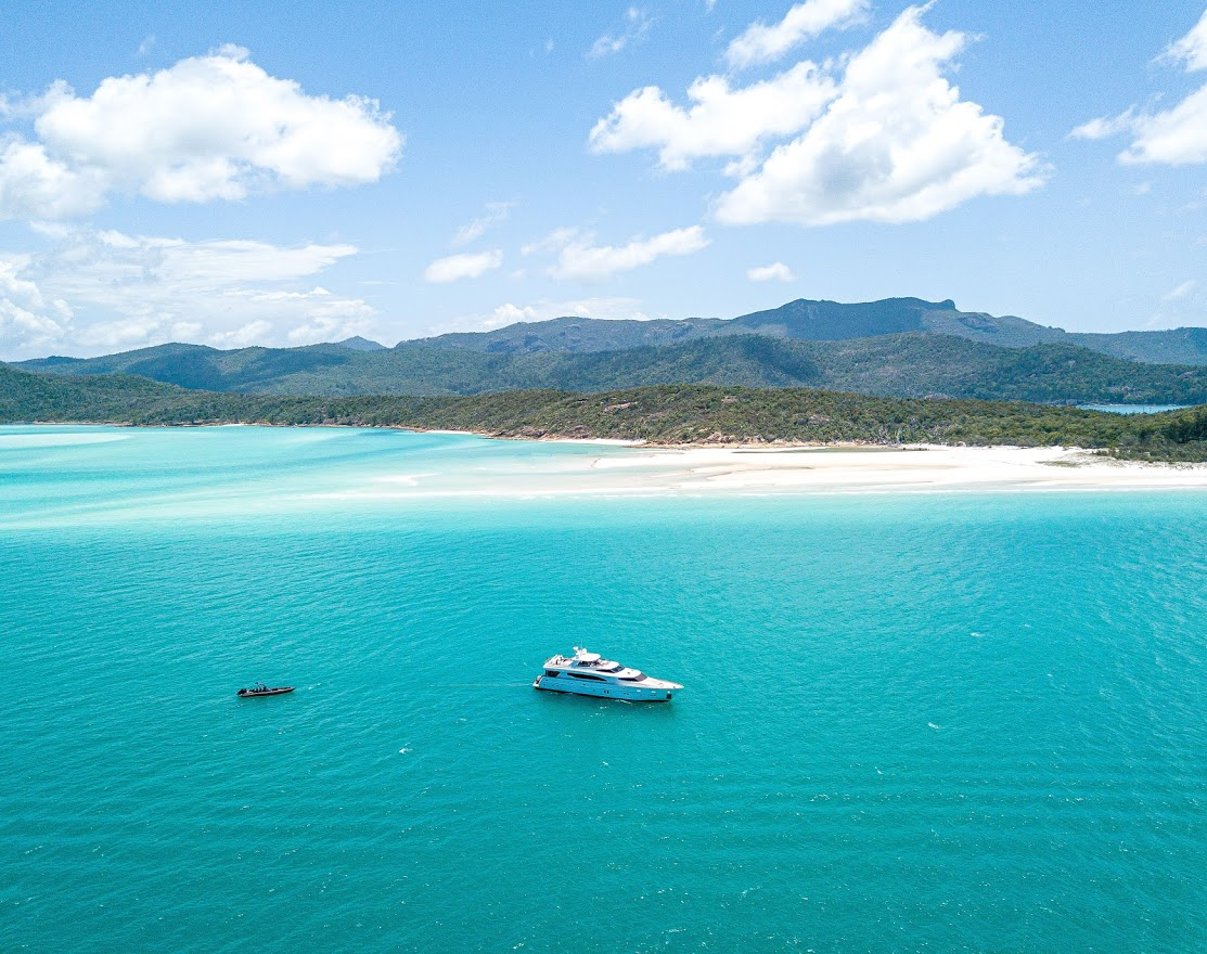 YOTSPACE superyacht voyages - MY Triple888 Whitehaven Beach at Anchor