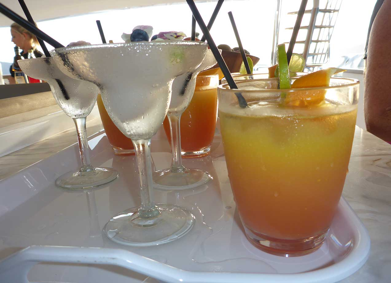 YOTSPACE - Superyacht Voyages - Sunset drinks on Corroboree