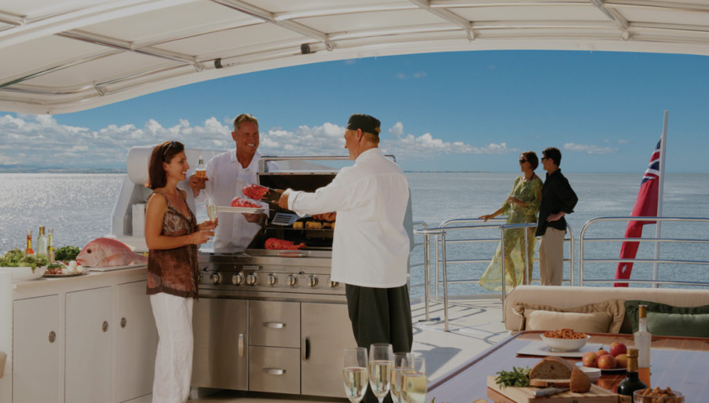 YOTSPACE superyacht voyages - Emerald Lady - Barbeque